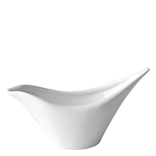 Utopia Anton Noir en porcelaine fine Z06013-000000-b01006 Swift Saucière, 11,4 cm (lot de 6)