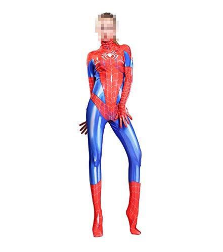 TOYSGAMES Spider-Man Cosplay Damen elastische Bodysuit Body Movie Game Show Kostüm Requisiten (Farbe : Rot, größe : XXL)