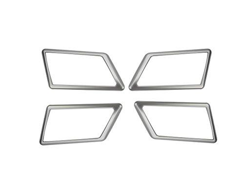 SODIAL 4 Pcs en Fiber De Carbone Style Abs en Plastique pour Alfa Romeo Giulia 2017 2018 Voiture Chrome Poign/éE De Porte Int/éRieur Cadre Couverture Garniture Accessoires