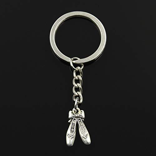 WWLIN Mode Keychain 20x13mm Ballettschuhe Hausschuhe Anhänger DIY Männer Schmuck Auto Schlüsselanhänger Ring Halter Souvenir Für Geschenk