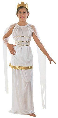Fancy Me Mädchen Weiß Gold Griechisch Römische Toga Schule Grichischer Büchertag Antike Griechenland Kostüm Kleid Outfit 4-14 Jahre (12-14 Jahre)