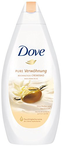 Dove Pure Verwöhnung mit Sheabutter und Vanilleduft Cremebad, 3er Pack (3 x 750 ml) -