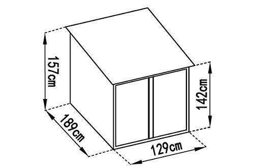 Gardiun KIS12968 – Caseta Metálica para Bicicleta Veloc I (X2) 2, 81 m² Ext