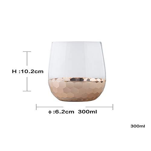 Exquisite Glas Blume Glas Tassen Tee Neuheit Saft Gläser Weingläser Party Bar Prost Kunst, Rose Gold , Medium