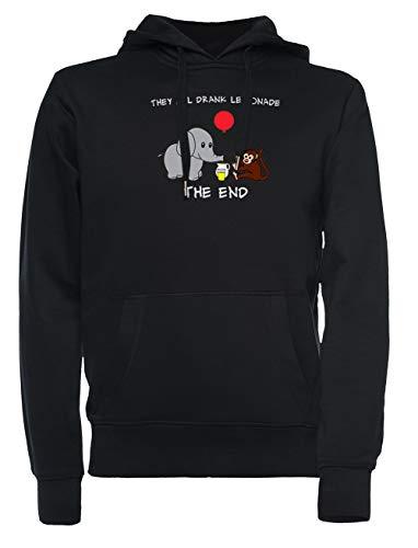 Rundi The Elephant Who Lost His Balloon Herren Damen Unisex Sweatshirt Jumper Schwarz Größe XXL - Women's Men's Unisex Sweatshirt Jumper Black