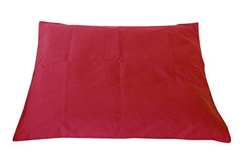Tierra Zen ME020F aerodeslizadores, rectangular, de algodón acolchada, 75 x 69 cm, rojo