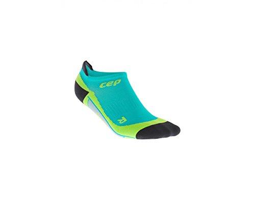 Performance Kompressions Socken (CEP Herren Laufsocken Dynamic+ no Show Socks WP56 Lagoon/Lime 42-44)