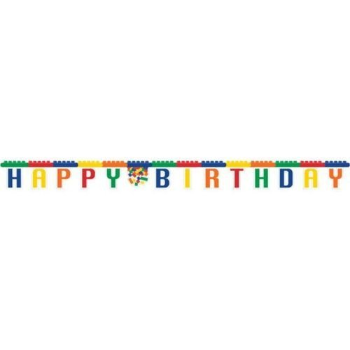 Creative Converting Block Party Large Jointed Happy Birthday Banner by Block Party