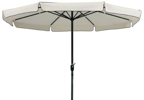 Schneider Sonnenschirm Amalfi, natur, 350 cm rund, Gestell Aluminium/Stahl, Bespannung Polyester, 8.2 kg