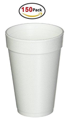 16Oz Weiß Einweg trinken Becher aus Schaumstoff Hot und Cold Kaffee Tasse (16 Oz Kaffee-becher Einweg)