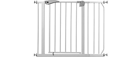 IB-Style – Treppengitter / Türgitter BERRIN   Erweiterbar durch Verlängerungen   75 – 175 cm   Auto-Close – automatisches Schließen   Metall Weiß  Spannbreite 105 – 115 cm - 2