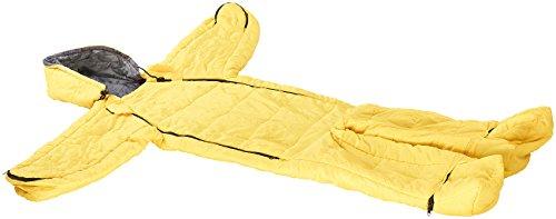 Semptec Urban Survival Technology Jumpsuit-Schlafsack: Kinder-Schlafsack mit Armen und Beinen, Größe M (bis 155 cm), gelb (Schlafsack Anzüge) (Armee Anzüge Für Kinder)