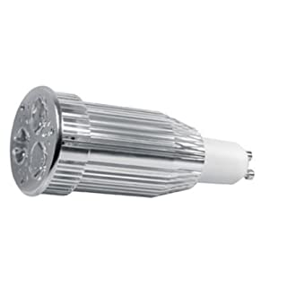Alcasa Power LED, GU10, 230V, 9W, 350lm, Ø 50 x 117mm, 3000K, Abstrahlwinkel: 45°, nicht dimmbar, CRI-Wert: 80, warmweiß