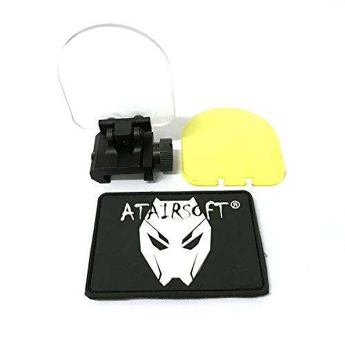 Protector de pantalla para lente réflex, plegable, táctica, cubierta del visor del punto rojo de mira, 20mm, montura QD, con 2lentes de repuesto (negras) para airsoft, caza, disparar