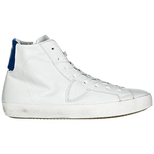 Philippe Model Sneakers Alte Paris Uomo Veau Neon Blanc Bluette 41 EU 4b2b8c71f2c