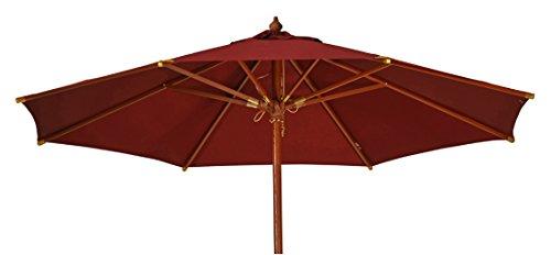 Kai Wiechmann Sonnenschirm Sunshine ø 300 cm Bordeaux-rot UV-Schutz 50+ ✓ hochwertig ✓ mit Windauslass ✓