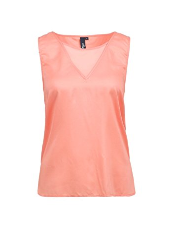 s.Oliver Denim Damen Regular Fit Bluse 49.506.13.2928 Orange (capri 2041)