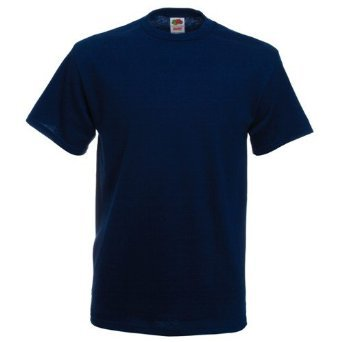 Fruit of the Loom Heavy Cotton T-Shirt - Navy Large