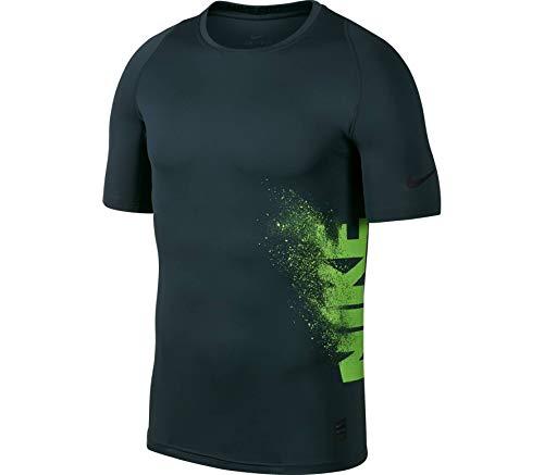Nike Maglia Maglietta T-Shirt Pro Uomo Multi 891612-328 - Multi-ss T-shirt Top