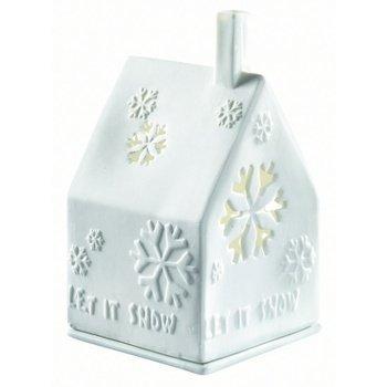 WINTERZEIT Lichthaus let it snow 7x7x10cm