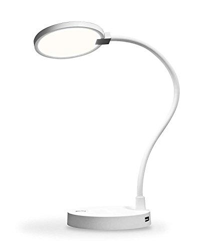 Lámpara de Escritorio, eeco Lámpara de Mesa USB Recargable Luz LED Regulable Control Táctil Portátil Batería Externa 4000mAh Incorporada Cuidado Especial para los Ojos