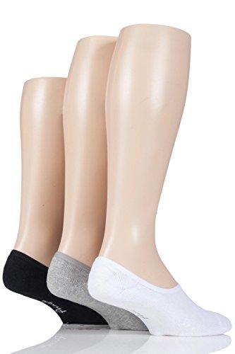 Pringle Herren 3 Paar Einfarbige Baumwolle Gepolsterte PED Socken-Sortiert 40-45 Herren -
