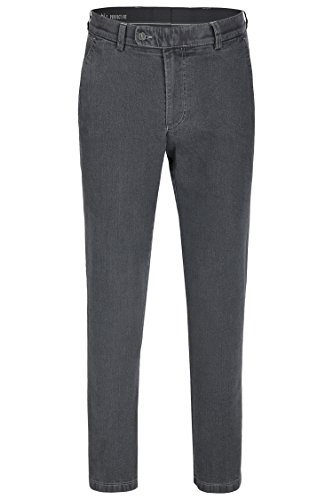 aubi: Perfect Fit Herren Jeans Flat Front Kurzleib grey (53)