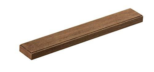 Xamonia® ML-MH Messer-Magnetleiste, Magnet-Messer-Halterung aus Holz, selbstklebend ohne bohren, 36cm Eiche dunkel (Holz Magnet Messer)