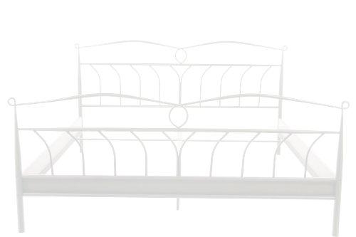 federholzrahmen 180x200 AC Design Furniture Bett Lis, B: 208 x T:146 x H: 105 cm, Metall, Weiss
