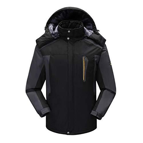 Xghw giacca imbottita da uomo outdoor casual sportivo impermeabile traspirante tuta da alpinismo per uomo freddo giacca impermeabile coefficiente 1500mm (colore : nero, dimensioni : l.)