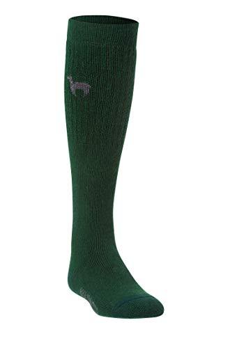APU KUNTUR Alpaka SKI-SOCKEN Damen Herren Stutzen Sport Knie-Strümpfe Jagd-Socke jagd-grün 39-41