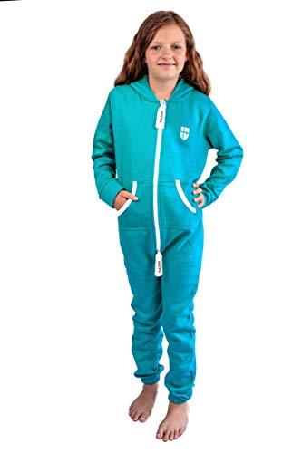 Gennadi Hoppe Kinder Jumpsuit Overall Jogger Trainingsanzug Mädchen Anzug Jungen Onesie,türkis,3-4 Jahre