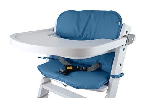 Schaum-sitzpolster (Tinydo Hochstuhl-Sitzkissen+ optimal für Timba Safety 1st und alle gängigen Treppenhochstühle- Set mit Memory-Schaum-Dämpfung Sitzverkleinerer-Auflage für Babystühle rutschfest pflegeleicht (Blau))