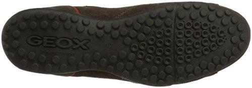 Geox Jungen Uomo Snake A Sneaker Braun (Ebony)