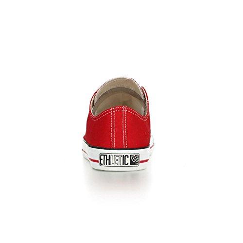 Ethletic Sneaker LoCut – rot / weiß aus Bio-Baumwolle, vegan & fair trade - 4