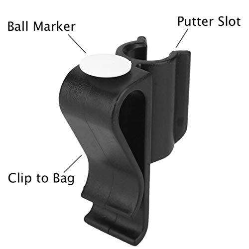 Faliya Golf Club Clip Golf Bag Clip Langlebig Golf Bag Clamp Club Putter Clips Halter mit Ballmarker Zubehör