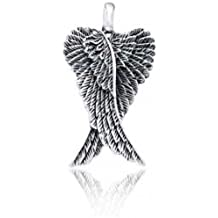 Bling Jewelry Bling joyería celta en plata esterlina oxidado .925 Colgante Alas de Angel