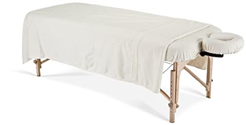 EARTHLITE Professional Flannel Massage Table Sheets Set - Durable, Soft, Luxurious Comfort, Double-Napped Top Sheet, Fitted Sheet