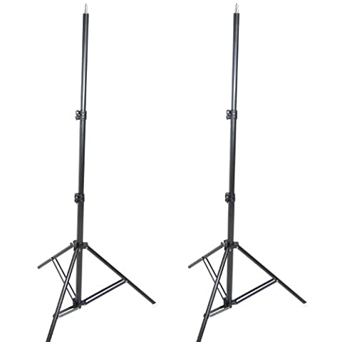 DynaSun 2x W807 300cm 9.8ft Professional Heavy Duty Kit Stand Lighting with Anti-Shock System for Light Flash Lighting Studio Photo, Video and