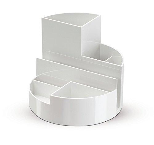 Maul Stifteköcher, Original Rundbox, 7 Fächer, Weiß, 140x125mm(Ø x H), Hochglänzend, 4117602, 1...
