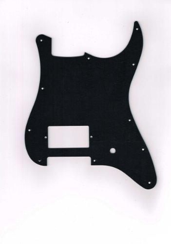 made-in-japanhigh-quality-st-62-matte-black-1ply-11-hole-1hum-1volume-pickguard