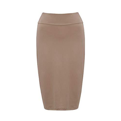 Falda de Mujer de Moda Falda lápiz clásica Falda elástica de Mujer Falda de Verano Cintura Alta 4 XL
