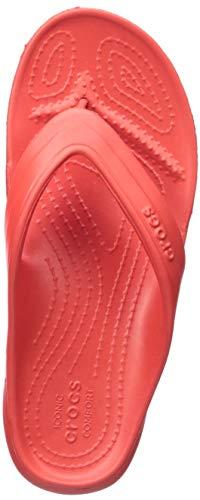 Crocs classic flip k, scarpe da spiaggia e piscina unisex-bambini, rosso (flame 8c1), 25/26 eu