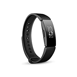 31hUDLIwDhL. SS300  - Fitbit Inspire & Inspire HR Health & Fitness Tracker with Auto-Exercise Recognition, 5 Day Battery, Sleep & Swim Tracking