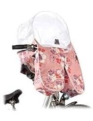 Basil Blossom estilo modernista Arc Lluvia túnel All Rain Cover Rosa bicicleta Asiento Protector de lluvia Chica 50026