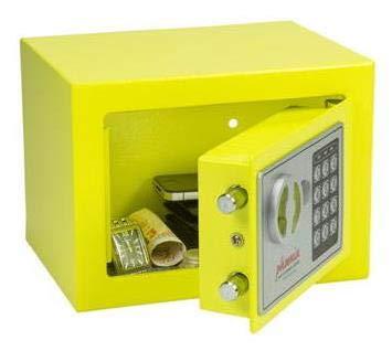 Phoenix SS0721EY - Caja fuerte Acero, Amarillo, Flat key, 228 x 120 x 168 mm