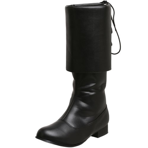 Pirate Herren Kostüm Captain - Pleaser Pirate-100, Herren Stiefel, Schwarz (Black), 42-43  EU