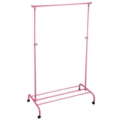 Home Vida - Perchero para Ropa (Metal, Ajustable), Color Rosa