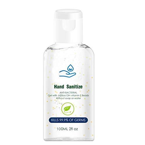 100ml Desinfección de Secado Rápido Gel de Lavado de Manos Antivirus Desechable Desinfectante de Manos Jabón Hnad sin Agua