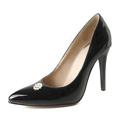 Sanmulyh Patent En Cuir Femme Chaussures Printemps Automne Pompe Base Confort Talons Talon Stiletto Cristal Toe Pour Bureau & Carrière Party & Soirée Noir